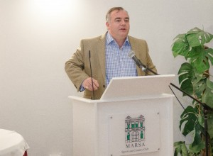 Chairman Mark Agius speaking at the recent Malta Cricket Awards