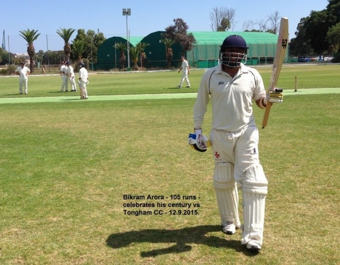 Bikram Arora century Marsa Tongham Malta Cricket