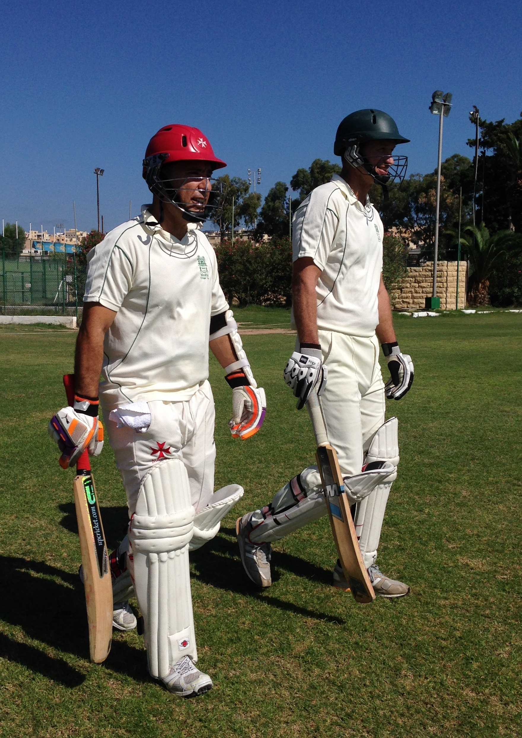 Openers M Sacco and M Crabbe - vs Tongham CC