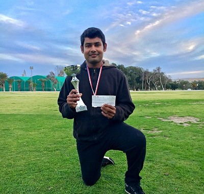 Player of the Match Basil George (Malta Cricket Winter League - Game 7)